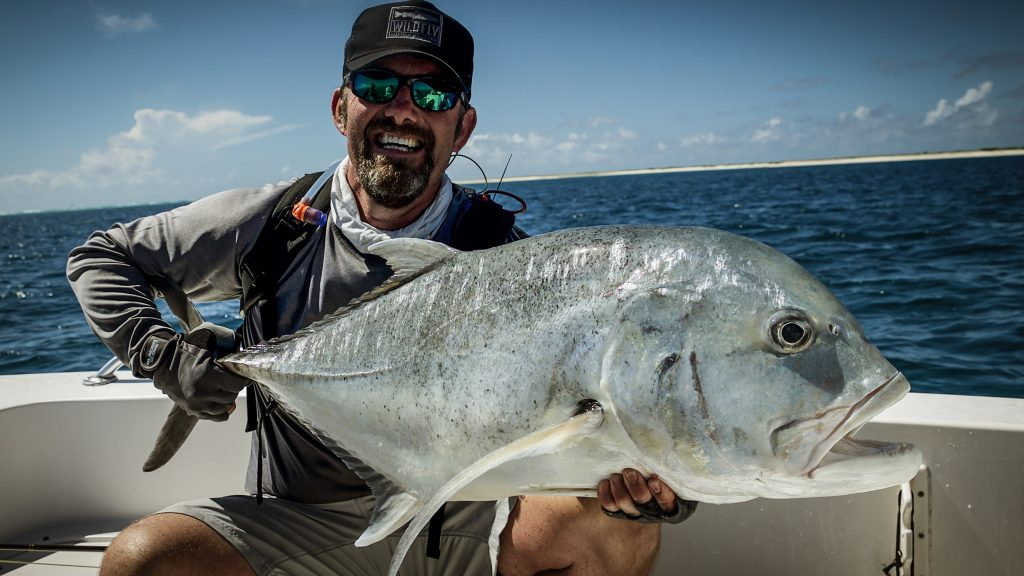 Gareth George with Giant Trevally