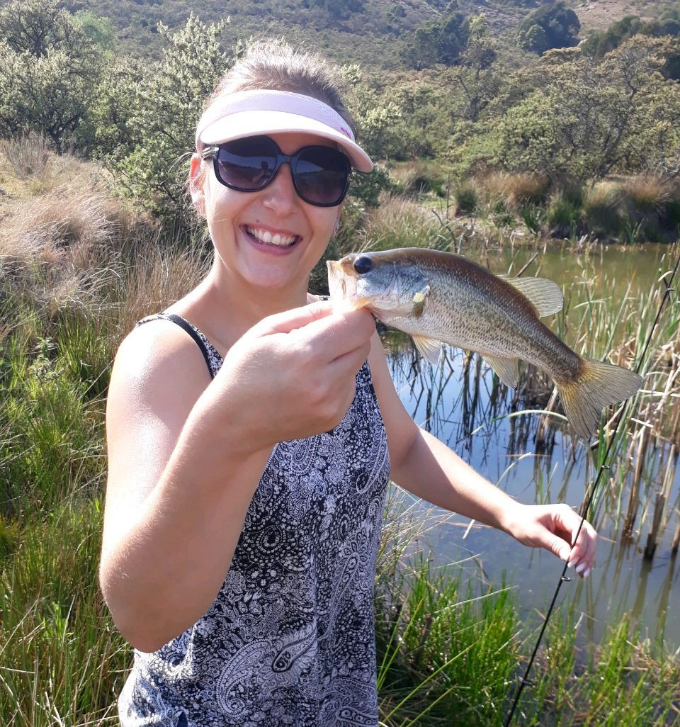 Wifeys first fish ever!