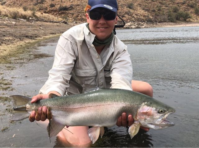4.5kg rainbow trouts caught in the Eastern Cape, just after fly fishing nationals. Fishing slow worm