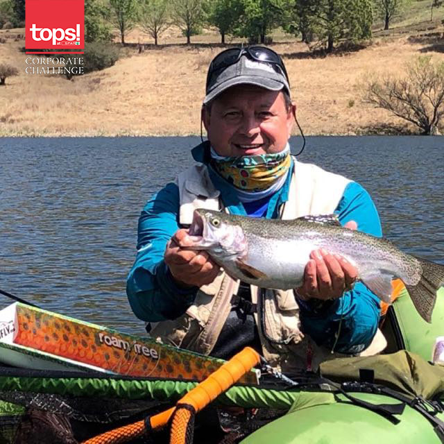 Kobus Potgieter with his beautiful Rainbow Trout.