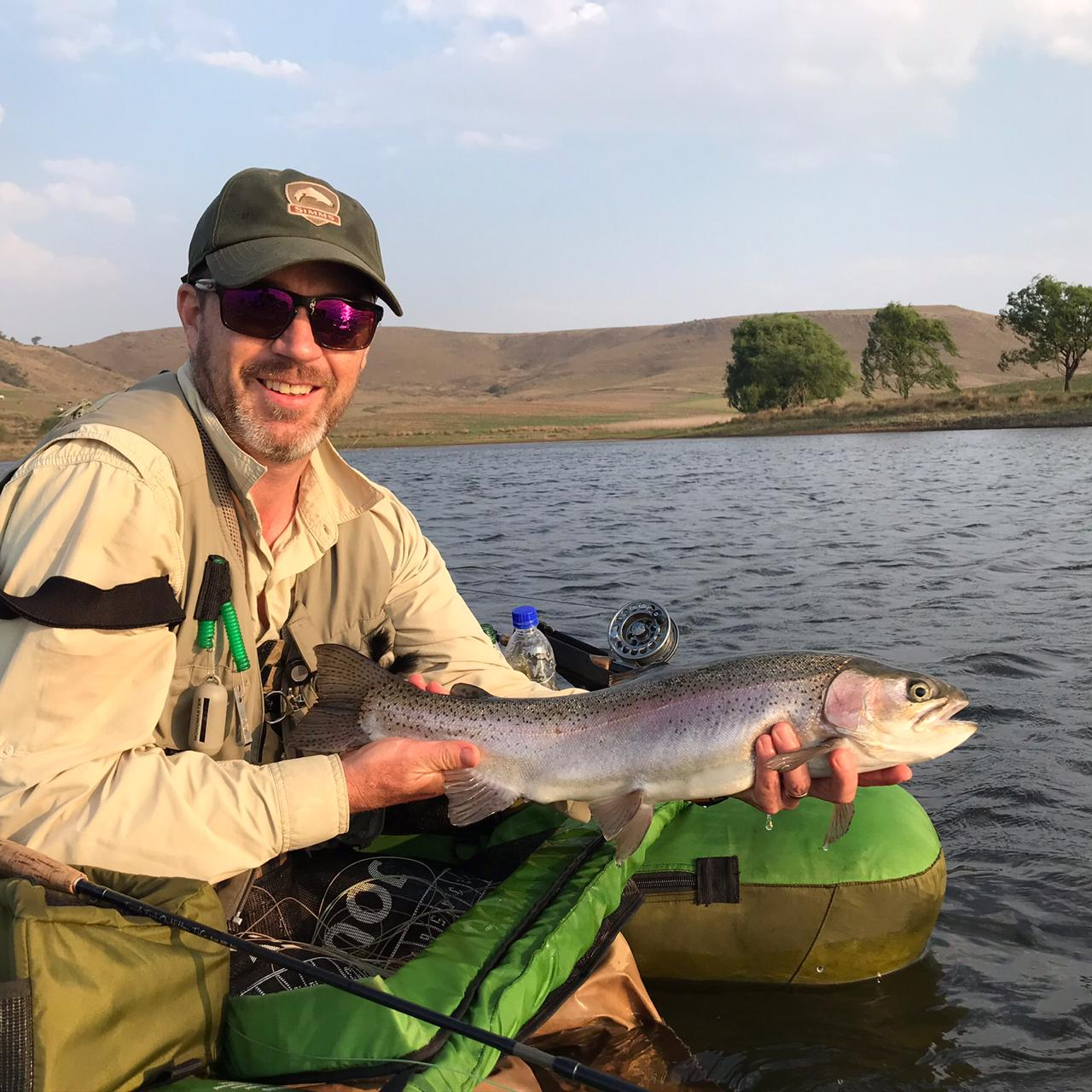 Scott MacIntyre with his beautiful Rainbow.