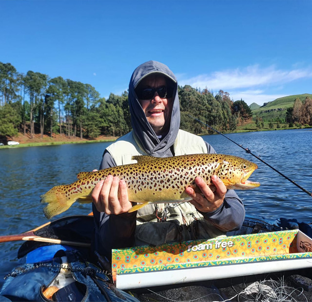 Tavis Cairns with a great Brown Trout